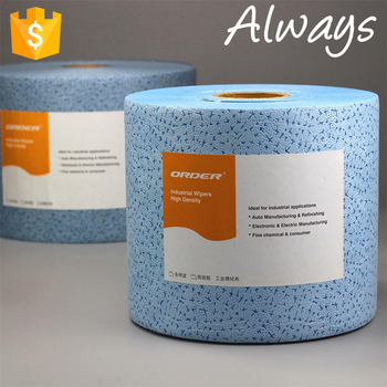 Industrial use jumbo roll Blue meltblown Polypropylene nonwoven fabric cleaning Wiper