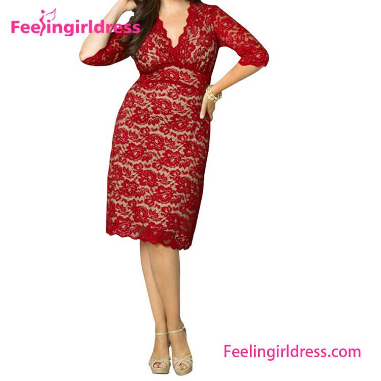 Summer Dress Plus Size Cheap V Neck Lace Dress Fabric Patterns Buy