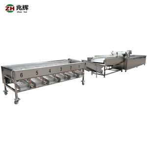 Factory supply automatic high quality small tomato potato grading and washing machine
