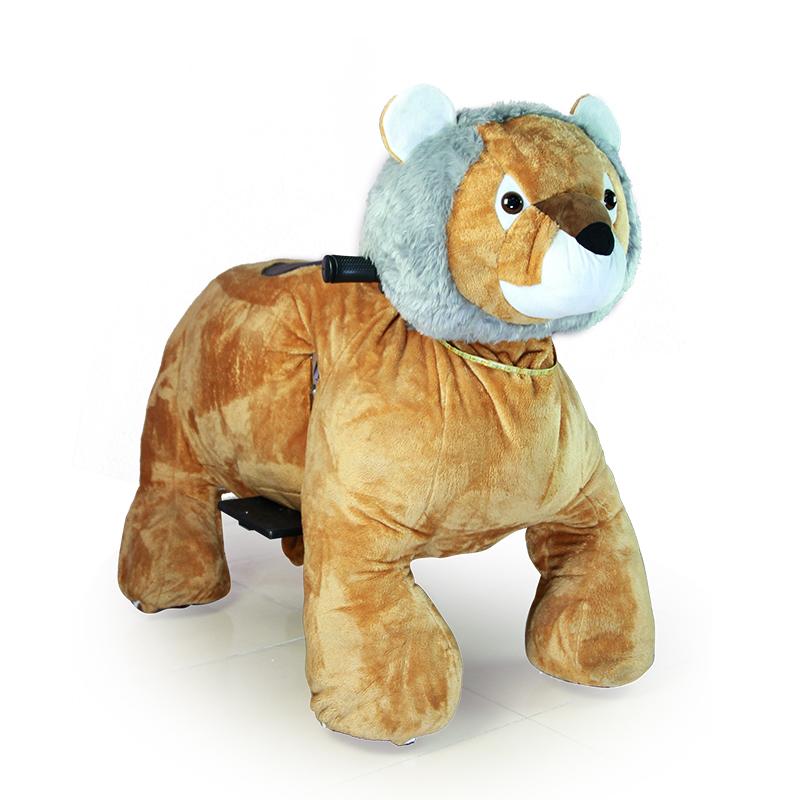 Big ผู้ผลิตสิงโตขี่สัตว์ตุ๊กตาตลก kiddie เครื่องอาเขต