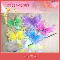 Bead and paiting nylon Butterfly fairy wand ,stick