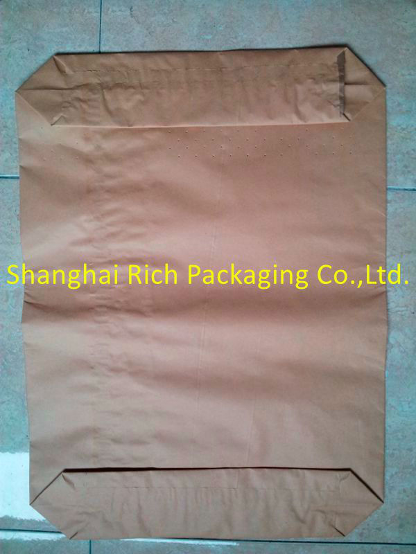 multiply with semi extensible kraft valve 50kg bag sack