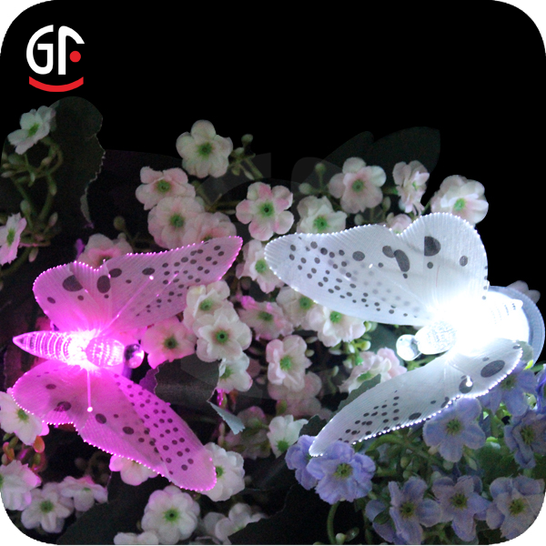 Electric Novelty Outdoor Decor Fiber Optic Led Butterfly Light