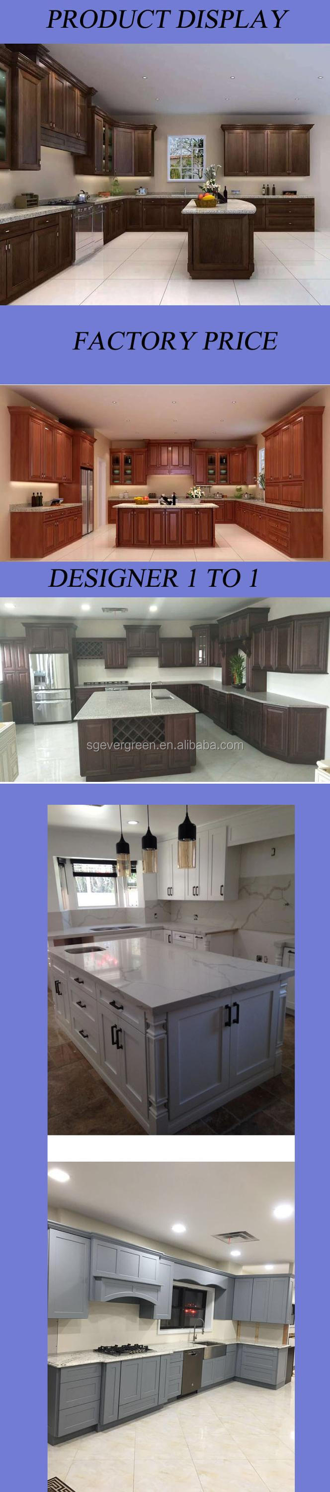 Birch solid wood plywood furniture customized american high gloss kitchen furniture