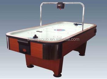 Wood Grain Finish MDF Air Hockey Table With Middle Hanging Digital Scorer  BG520148