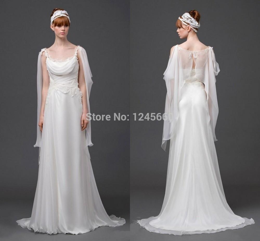 2015 Spring Beach Greek Goddess Wedding Dress Open Back: 2014-Greek-Goddess-Column-Beach-Wedding-Dresses-Scoop