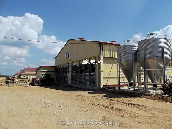 2016 New Hot!!! Design Prefab Chicken Farm Equipment