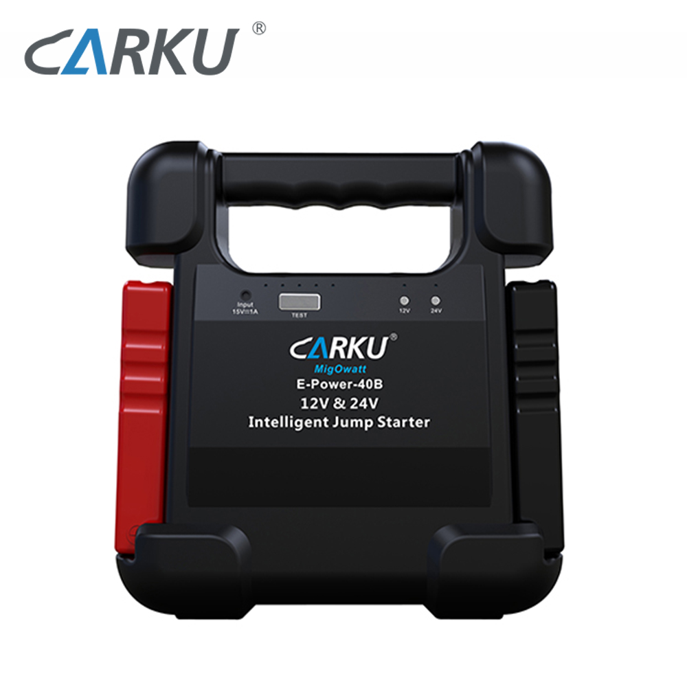 CARKU New 24000mAh 88.8WH Mini Auto Battery Booster 12V 24V Jump Starter Portable 12V Car Battery Charger