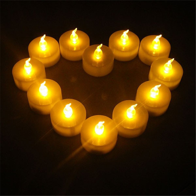 Realistic And Bright Flickering Bulb Battery Operated Flameless Led Tea Light Electric Fake Candle Lights