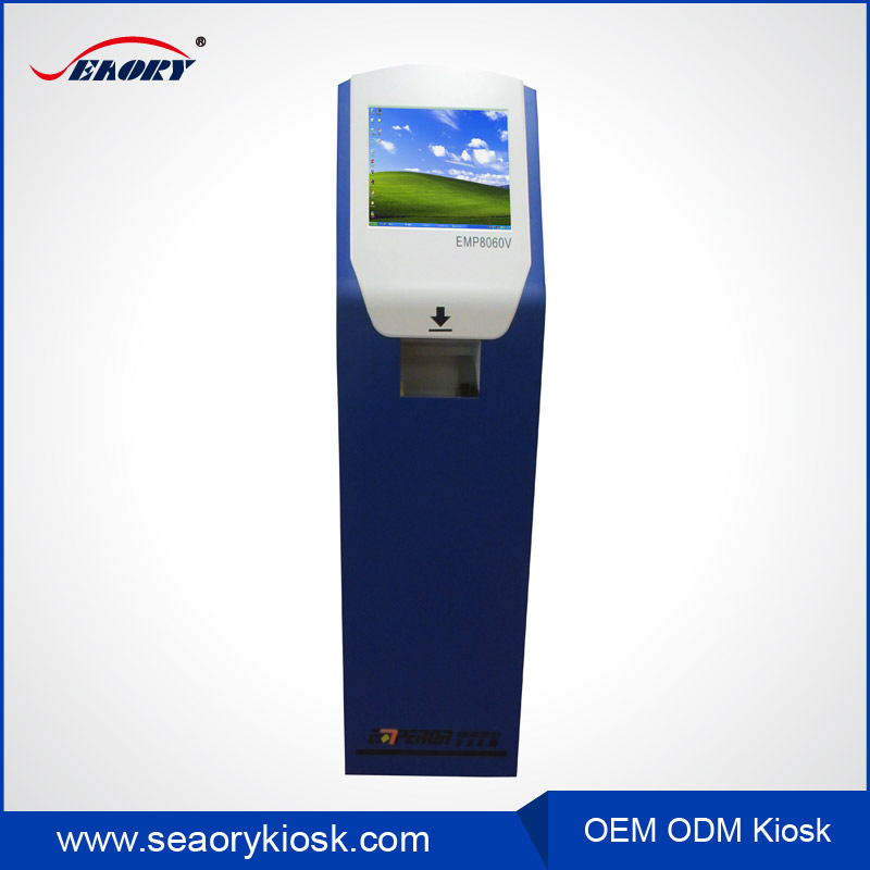 outdoor touch screen self payment kiosk/mayfair card reader kiosk/payment cash on delivery