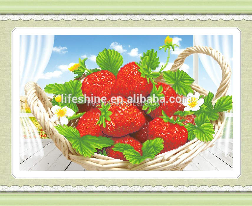 New Cloth Strawberry Fresh Fruit 5d Diamond Painting Home Decoration Embroidery Handicraft Modern Art Buy 5d Diamond Painting Embroidery Handicraft