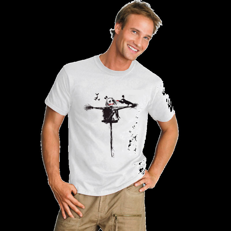 Street Art Graphic Design Mens Printed T-shirt - Scarecrow Makeover
