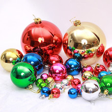 New Glossy Plain Round Indoor Decorating Christmas Ornament Ball Garland