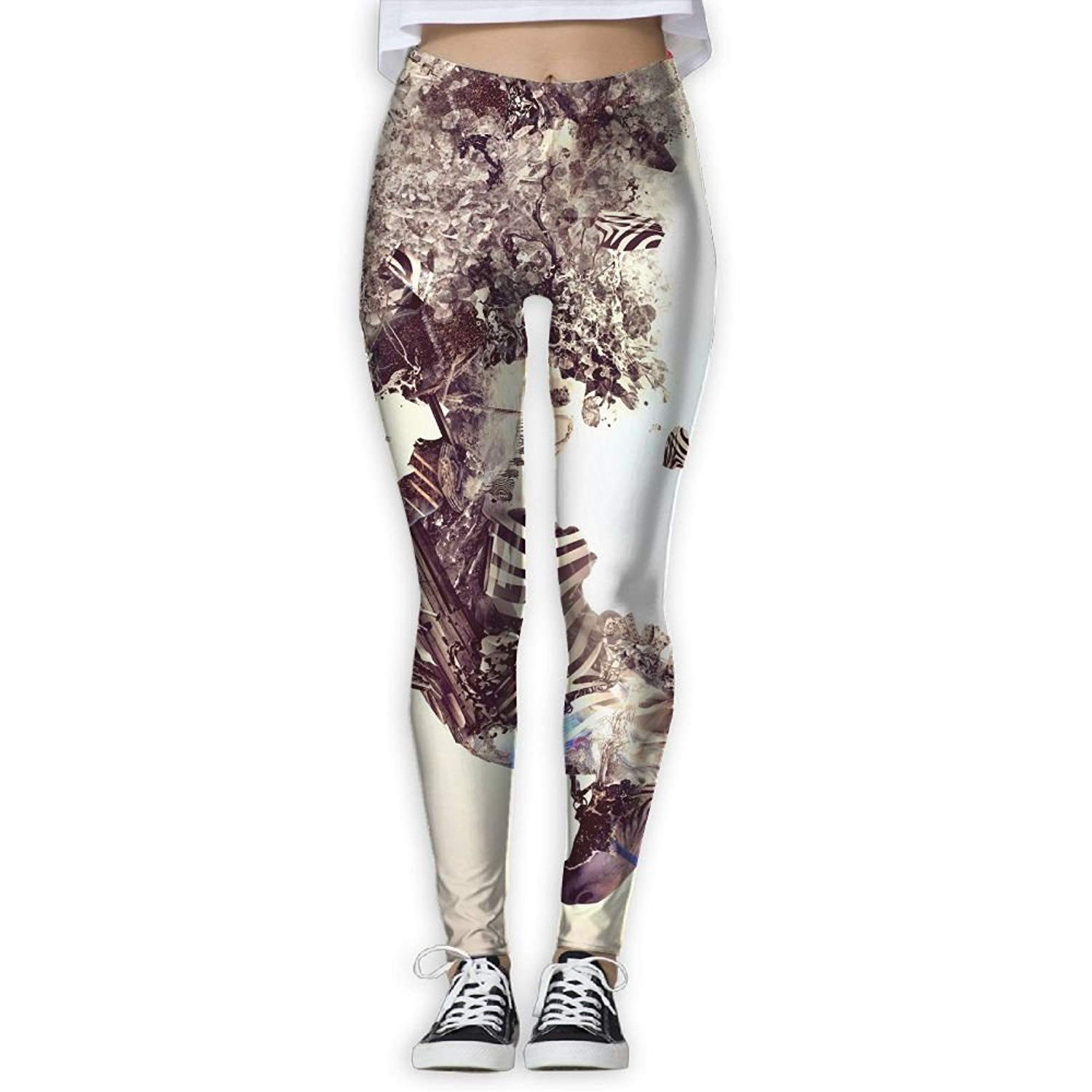 EWDVqqq Women Yoga Pant Artistic Bonsai Explosion Japan Zebra High Waist Fitness Workout Leggings Pants