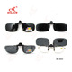 gray lenses polarized flip up clip on sunglasses uv400 driving glasses