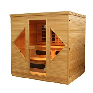 Traditional wood personal steam wet sauna room