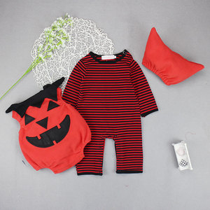 High quality and cheap price pumpkin clothes for halloween baby suits for baby boy and girl