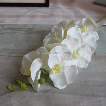 home decoration artificial flowers high quality simulation moth orchid silk flower
