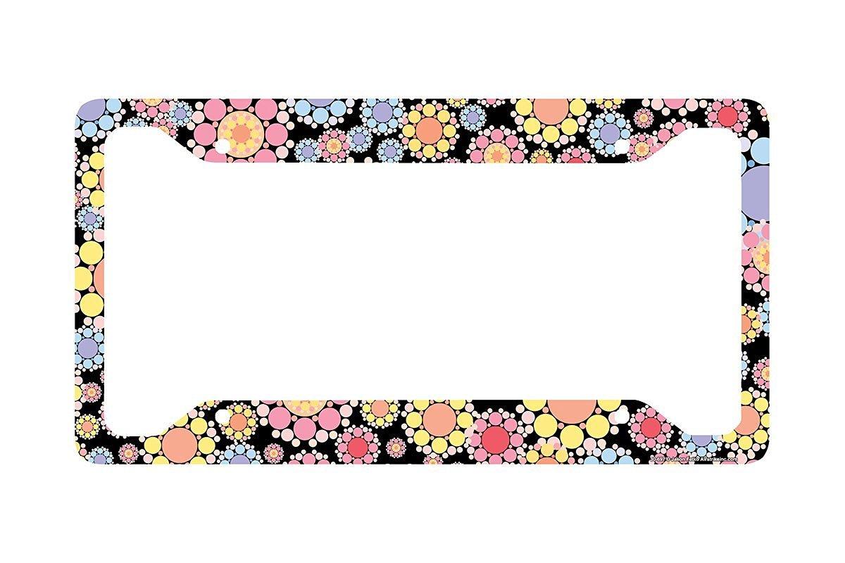 Airstrike® Flowers License Plate Frame, Flowers Car Tag Frame, Flower License Plate Holder, Cute License Plate Frame-30-697