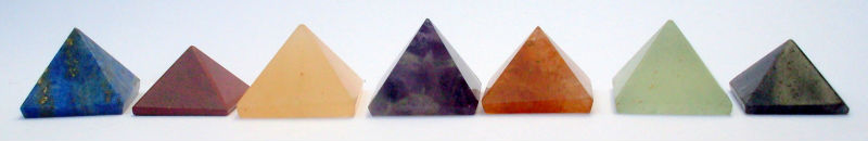 Reiki Chakra Pyramids Stones for Crystal Healing, New Age Metaphysical