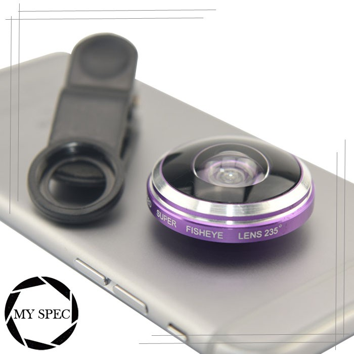 Super 235 Degree Optical Fish Eye Lens for Cell Phone Camera Selfie Photograph