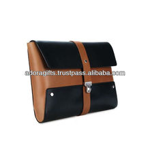 brown and black very useful documents holder leather bags