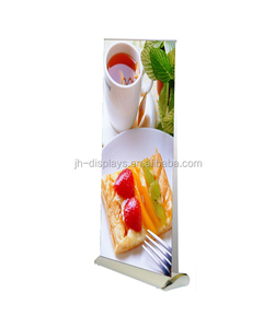 Luxury double side broad base roll up banner