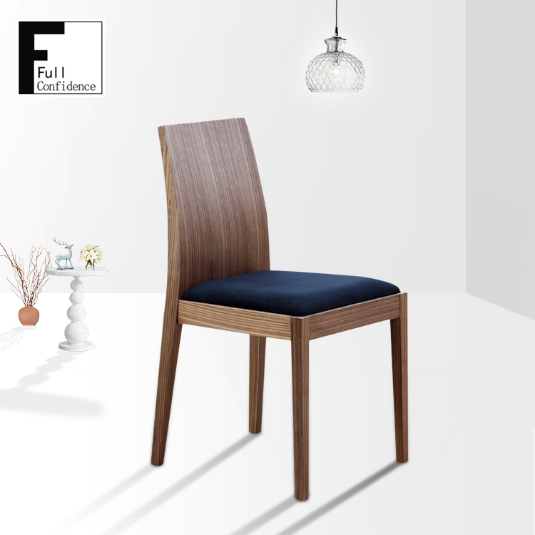 Hot sale solid wood vinyl seat restaurant dinning chairs