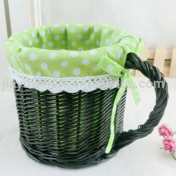 Handmade Fabric Lined Cup Shape Empty Wicker Gift Baskets Decorative  Storage Baskets   Buy Cup Shape Empty Wicker Gift Baskets Decorative  Storage ...