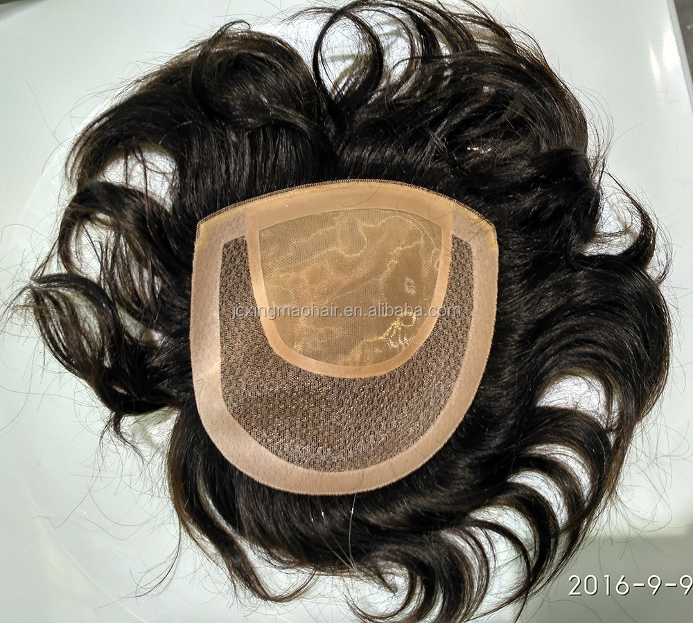 For Female 100% Brazilian Real Natural Toupee Human Hair Toupee For Black Women