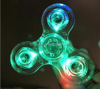 2017 Best Seller Glow Fidget Spinner Custom Logo Tri OEM ODM