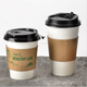 Disposable Paper Hot Coffee Cup Sleeves Reusable Holder for Hot Drinks