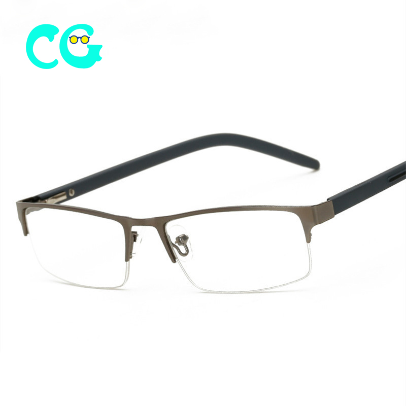 Metal Half Frame Reading Glasses Men Women Business Hyperopia Eyeglasses With Prescription +1.5 +2.5 +3.0 +3.5+4.0 2019 glasses