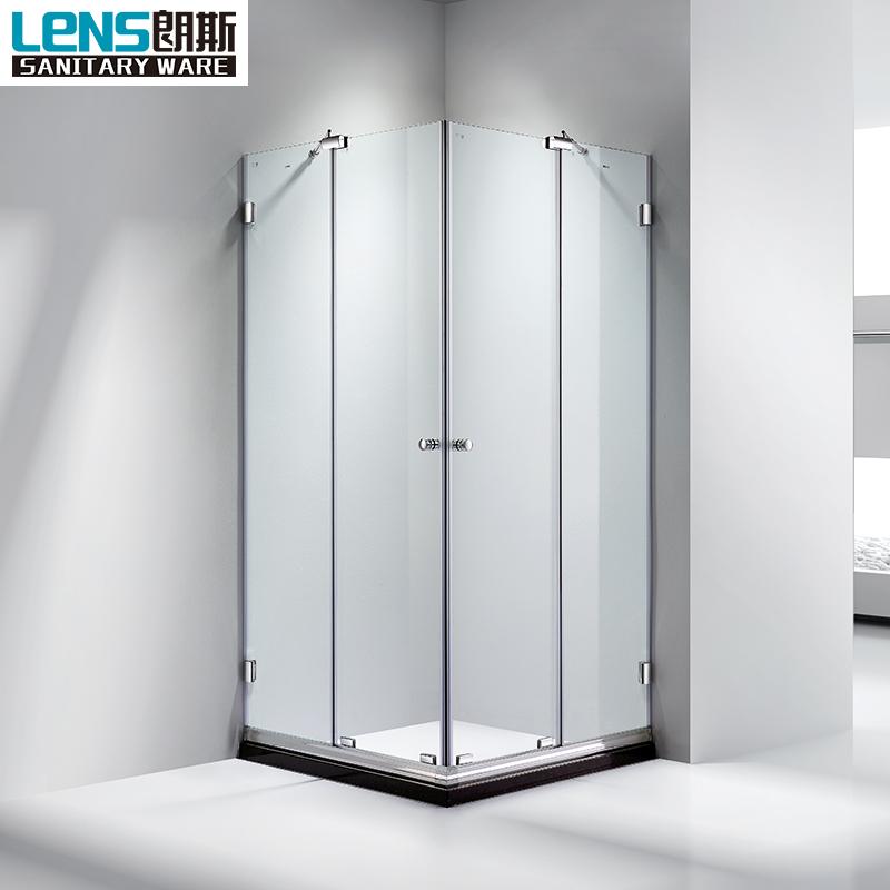 Modern Life Bathroom Corner Square Best Shower Cabin 2 Pivot Open ...