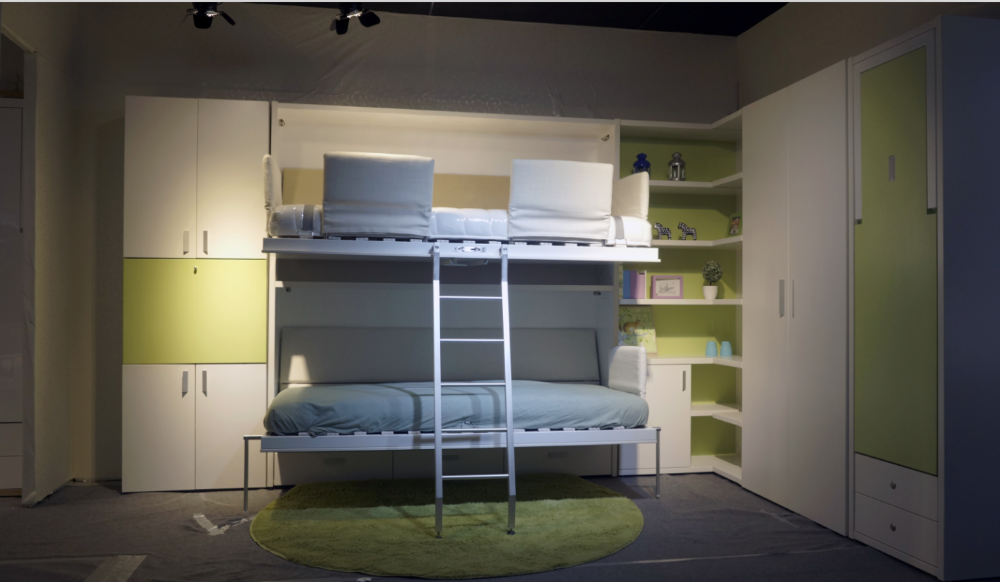 Space Saving Hidden Bunk Wall Bed Folding Bed Pull Down