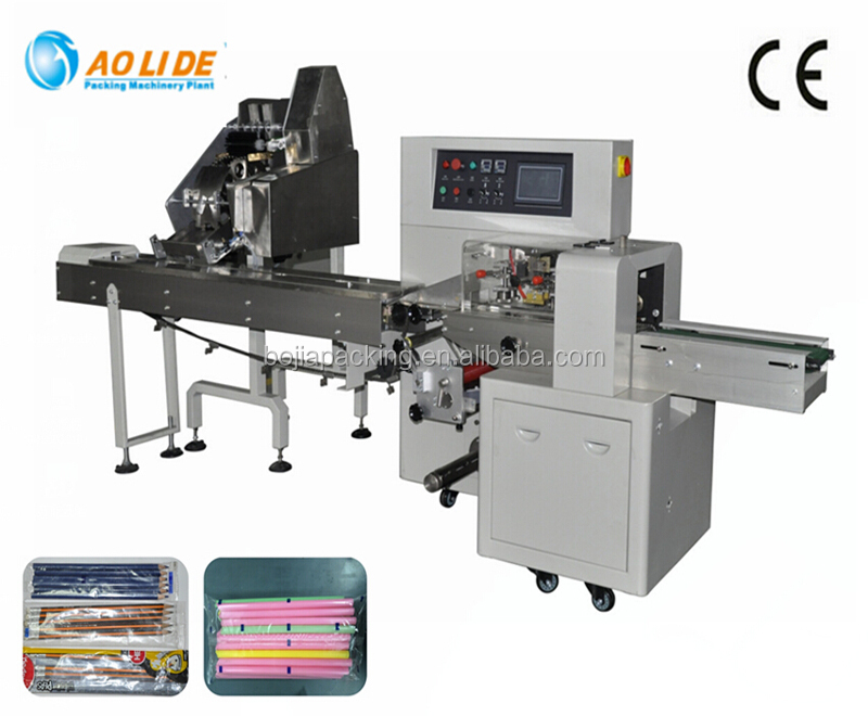 Automatic packing and counting pencils wrapping horizontal type packing machine Model BG-250