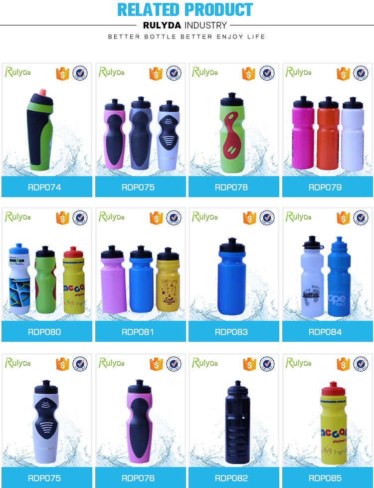 customized logo squeeze plastic drinking sport water bottle