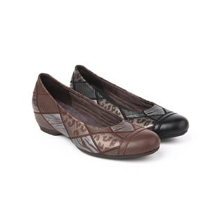 latest leather shoes cowleather lace women flat ladies shoe