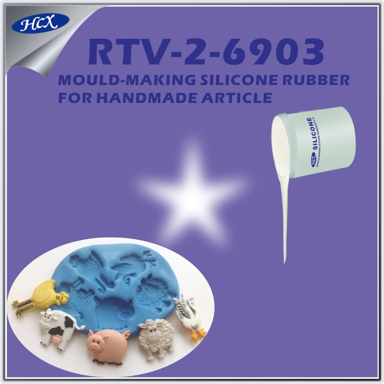 RTV-2-6903 Handmade article silicone rubber rtv liquid silicone rubber injection molding machine silicone rubber raw material