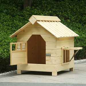 Outdoor solid wood waterproof pet house dog house cat house