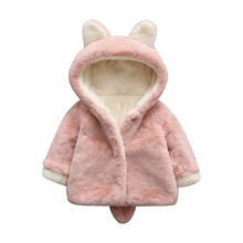 Winter Baby Girls Warm Faux Fur Outerwear Coat Children Jacket Clothes