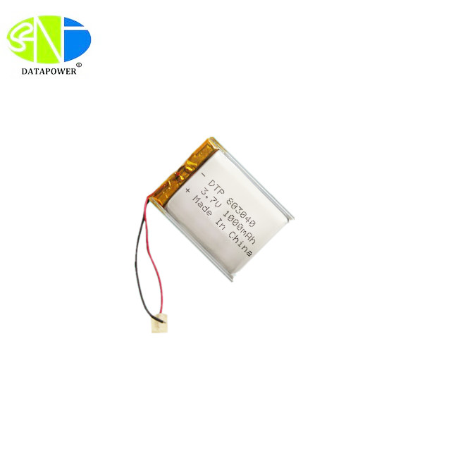 8*30*40mm 1000mah smallest 3.7v lipo battery with KC certification
