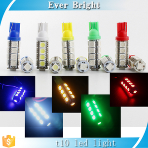 High Quality T10 194 168 5050 17SMD Blue Red white green Indication Signal Light Bulbs License Plate Light free shipping