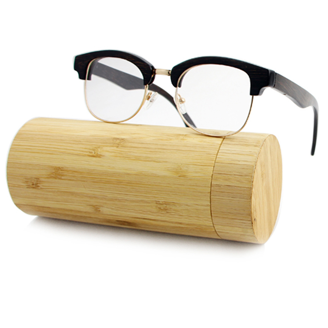2018 New Cool Fashion Italy Designed Wholesale Rimless And Half Bamboo Men's Insight Personal Optics Reading Glasses