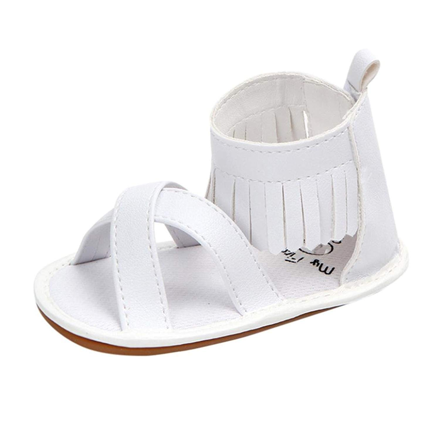 264667588ee7 Get Quotations · WOCACHI Baby Girls Shoes Toddler Girls Shoes Soft Tassel  Crib Shoes Infant