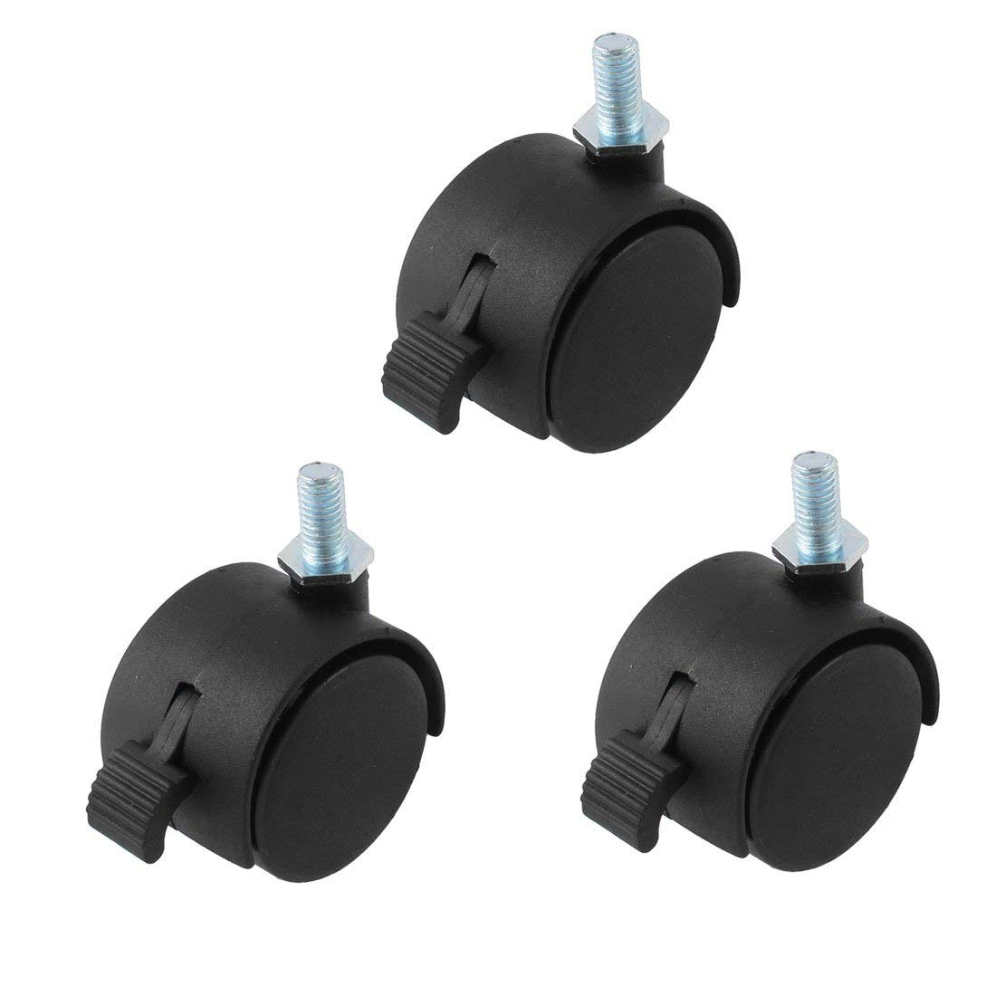10mm Stem Diameter 15mm Two with Stoppers 11705-CASTERS-4PK-NPF 3//8 FixtureDisplays 2 Threaded Stem Casters Stem Length 9//16 Set of 4