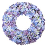 Hot selling Hydrangea Flower Spring Wreath for door decoration