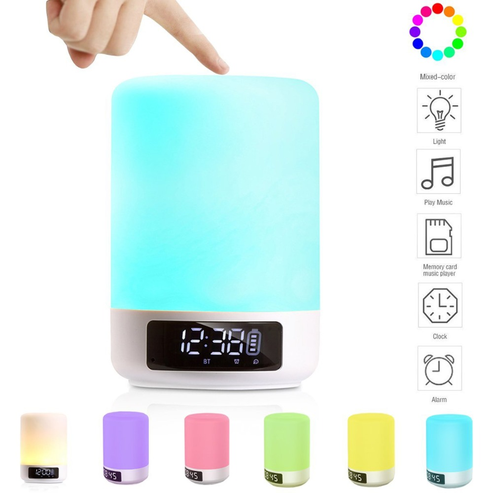 Bluetooth Speaker Wireless LED Bedside Lamp with Touch Control Dimmable Mini touch lamp speaker