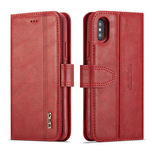 BRG genuine leather wallet handbag for iPhone x xs xr xs max,genuine luxury for iphone leather case