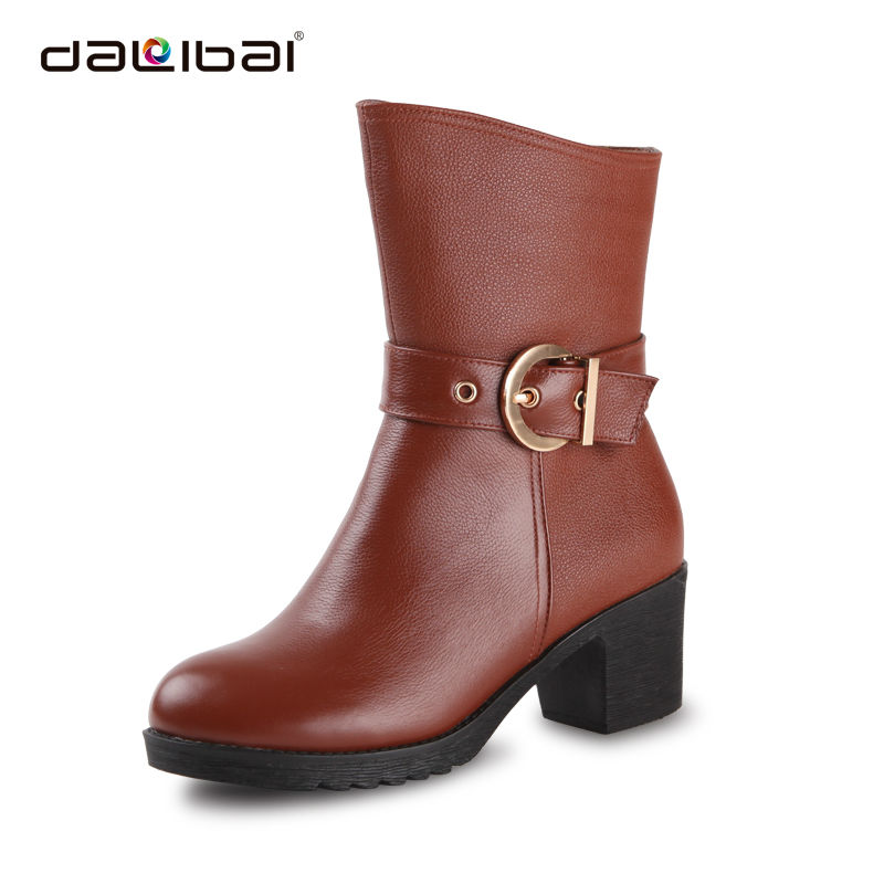 high heels women red suede rubber rain european style boots